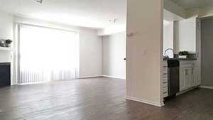 Living room and sliding glass door