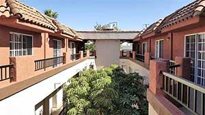 2nd floor exterior view of Emerson apartment complex