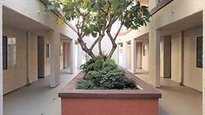 1st floor exterior view of Emerson apartment complex