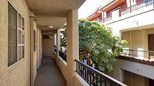 View of exterior walk way hall