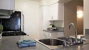 Kitchen counter close up