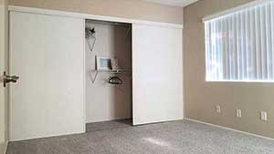 Bedroom with closet